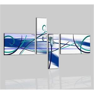 Quadri moderni componibili astratti dipinti a mano su tela for Quadri moderni fiori dipinti a mano