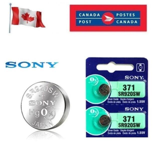 2 x Sony 371 SR920SW AG6 370 SR69 SR921 1.55V Watch Battery exp 12-2028 Silver