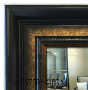 dark brown bathroom mirror west frames legacy brown bronze framed wall mirror 18042 | s l300