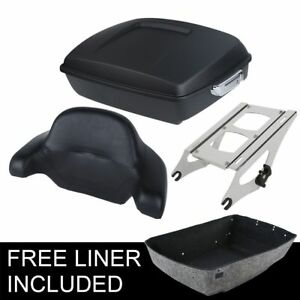 Chopped-Pack-Trunk-Luggage-Rack-Fit-For-Harley-Tour-Pak-Road-Street-Glide-14-20