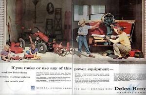1956-2-PAGE-ORIGINAL-VINTAGE-DELCO-REMY-CAR-PARTS-MAGAZINE-AD