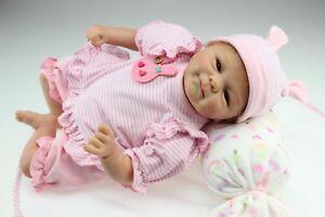 18-034-45cm-RINATO-Baby-Boy-Doll-realistico-realistico-Morbido-Silicone-Neonato-Bambole