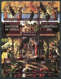 Tonga-2012-Weihnachten-Christmas-Gemaelde-Paintings-Religion-Postfrisch-MNH