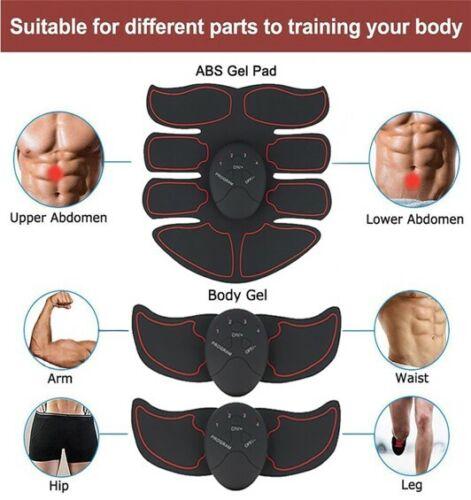Ems Muscle Stimulator Trainer Smart Fitness Abdominal Training Body Shaping Belt
