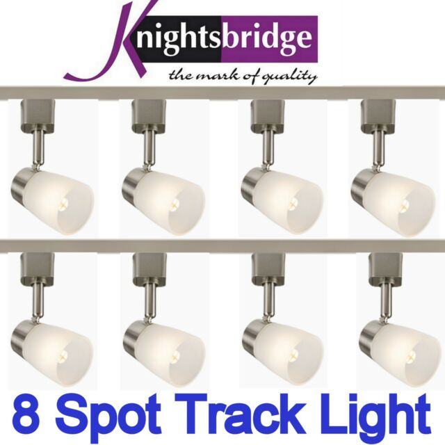 Knightsbridge Comptoir Led Piste 8 Spot G9 Lumière 4 Mètre Kit Unique Circuit