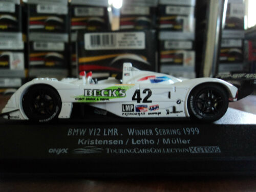 Onyx 1//43 BMW V12 LMR #42 Winner Sebring 1999 Kristensen Muller Letho