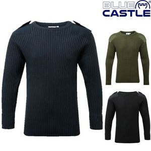 BLUE-CASTLE-MILITARY-CREW-NECK-COMBAT-JUMPER-MENS-S-3XL-ARMY-NAVY-PULLOVER
