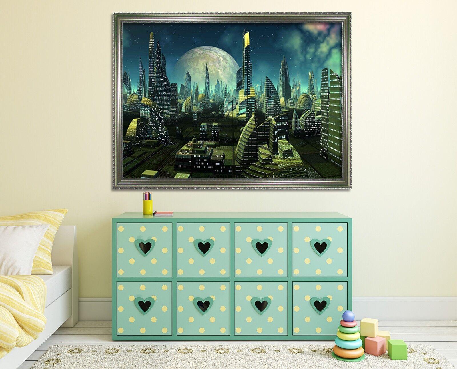 3D High Tech Moon 46 Framed Poster Home Decor Print Painting Art AJ WALLPAPER