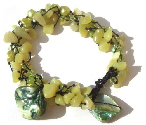60x serpentín 7x perla 2x verdes madreperla chip pulsera longitudes variable greenmermaid