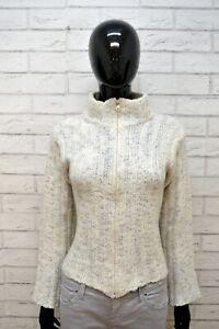 MARLBORO-CLASSICS-Maglione-Taglia-M-Cardigan-Donna-Pullover-Sweater-Lana-Felpa