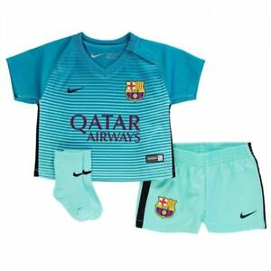 new products f59d0 5ecfa Details about BARCELONA 3RD KIT BABY KIT SHIRT SHORTS & SOCKS NIKE 100%  OFFICIAL