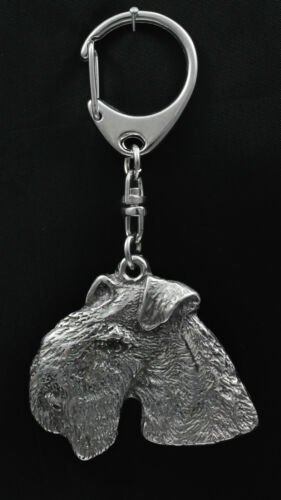 silver covered keyring high qauality keychain Art Dog Lakeland Terrier