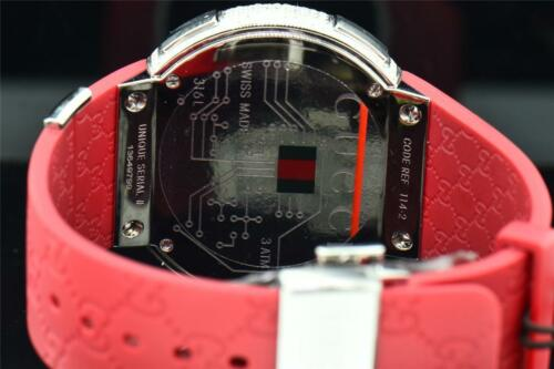 d87959251d8 4 of 11 Mens Custom Full Case Digital Red I-Gucci YA114212 Genuine Diamond  Watch 2.50 CT 5 ...