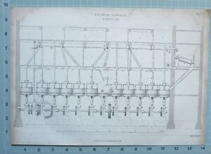 1847 Ingeniería Estampado Antigua Unión Maíz Molino Birmingham