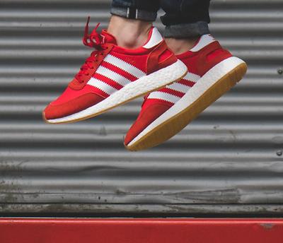 Details about Adidas INIKI Runner size 7.5. Red White Gum. BB2091. nmd ultra boost pk