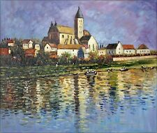 Claude Monet Vetheuil, the Church Repro, Hand Painted Oil Painting, 20x24in