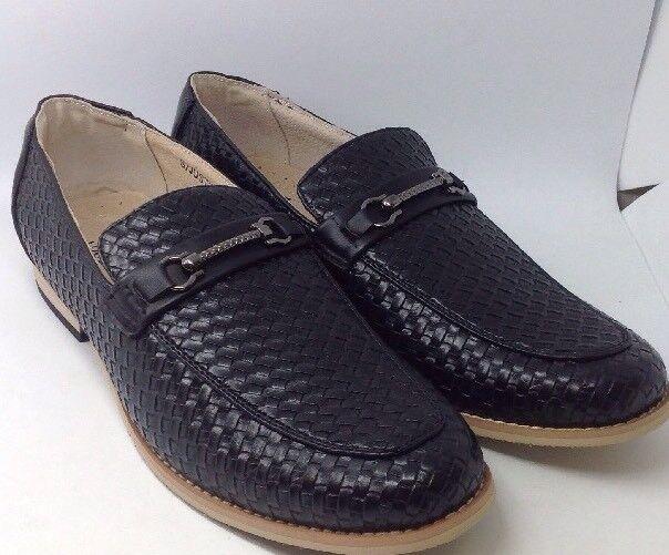 40786b122f0 Adolfo Justin Men s Slip-on Dress Shoes Black - 9
