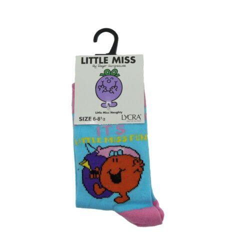 Miss Chatterbox Pair of Kids Girls Little Miss Socks Miss Giggles Miss Fun