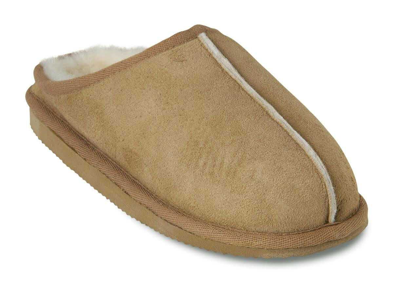 Shepherd Liv Donna Lusso Lusso Donna Pelle Di Pecora Pantofole in antico COGNAC 0621bb