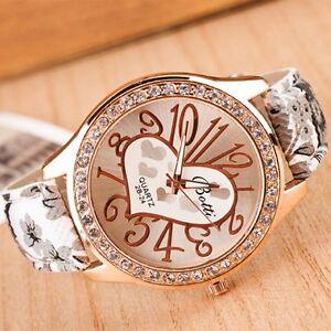 Damen-Maedchen-Armbanduhr-Uhr-Golden-Edelstahl-Kristall-Luxus-Casual-Uhren-Watch