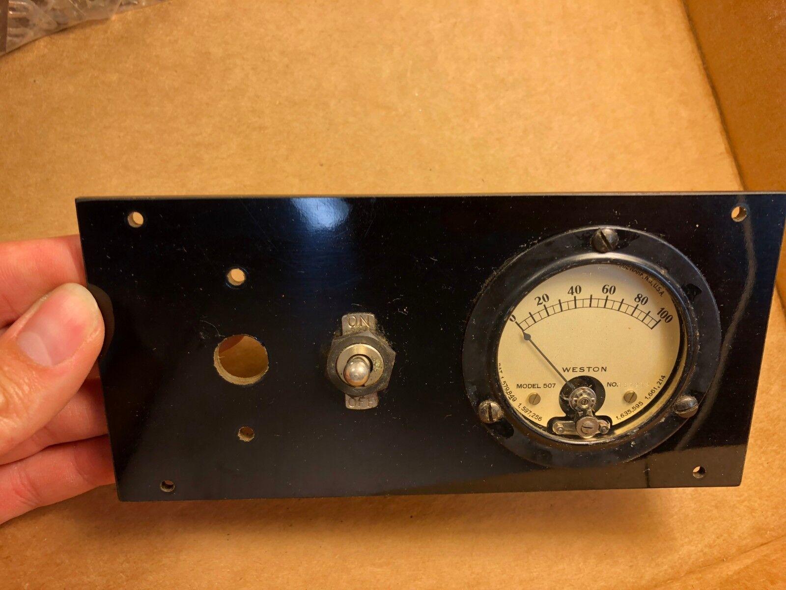 Antiguo Modelo 507 507 507 metros Weston mide 0-100 calibre 1920s o 1930s montado  hasta un 60% de descuento