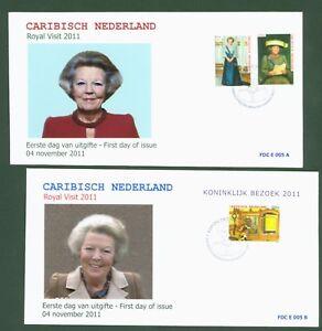 Caribisch Nederland Pays-bas 2011-la Reine Beatrix Nº 16-17 + Bloc 1-fdc