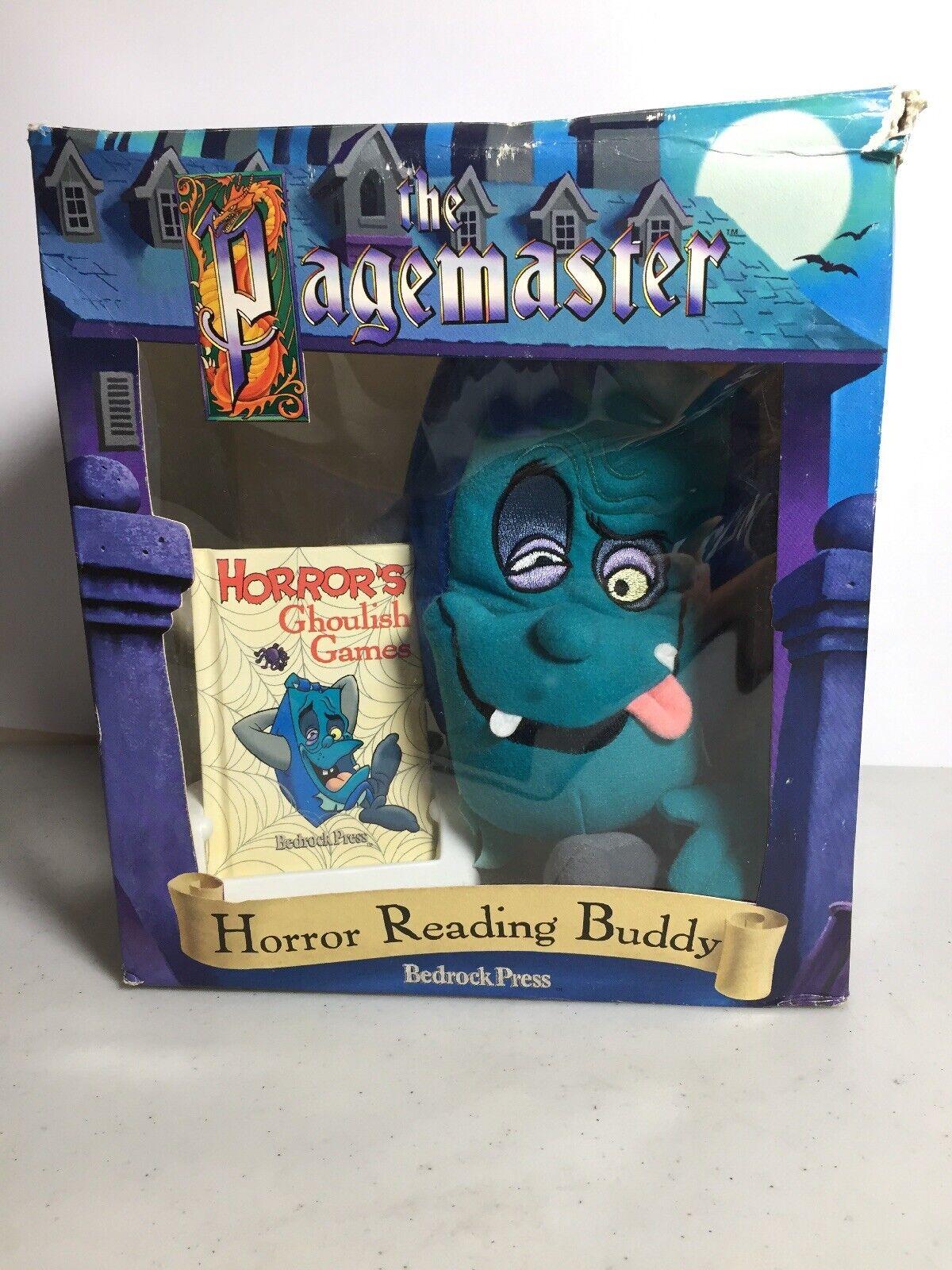 10  Juguete de Felpa horror lectura Amigo Libro Y Caja el hunchbook Pagemaster 1994