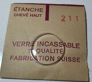 Verre-de-montre-suisse-bombe-plexi-diametre-211-Watch-crystal-vintage-NOS