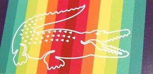 Lacoste-Blue-Green-Yellow-Red-Towel-AUTHENTIC-Beach-Bath-Alligator-Men-039-s-Women