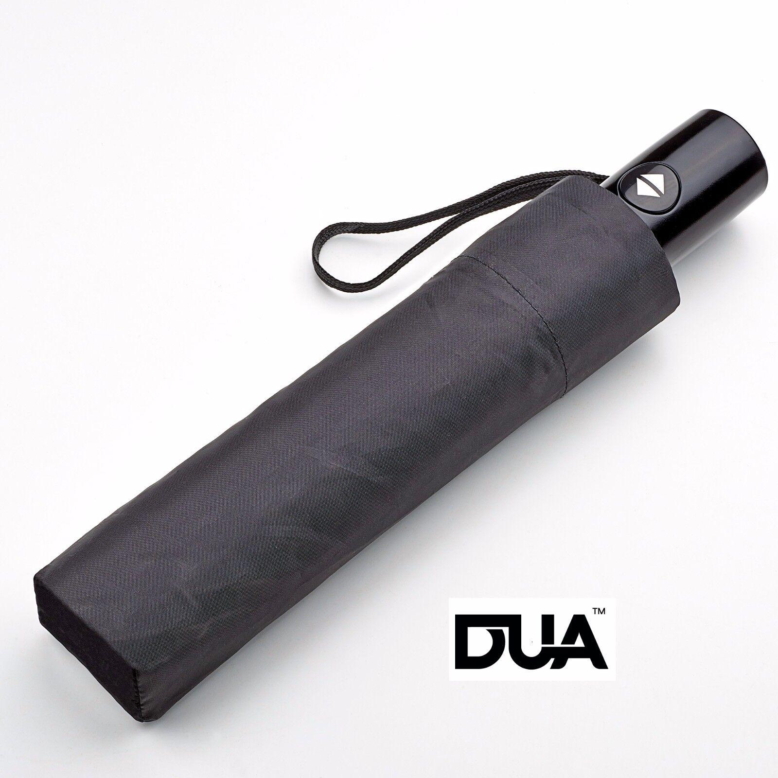 DUA Auto Open & Close Folding Umbrella - Black