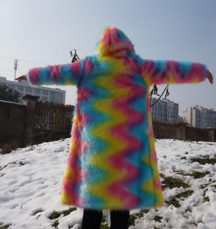 Fashion OUTWEAR UOMO MISTO-Color con con con cappuccio in pelliccia sintetica Cappotto Giacca Parka Sciolto ci NUOVO b1923d