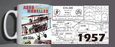 Aeromodeller Tazza Vintage Design 1957-mostra Il Titolo Originale