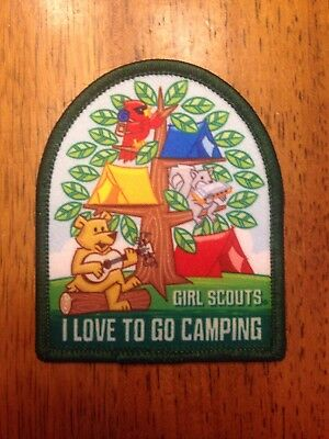 """I Love To Go Camping/"""" New Girl Scout Fun Patch /""""Girl Scouts"""