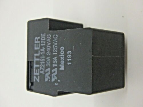 American Zettler 12VDC Coil  30A//250V SPST Power Relay Part # AZ2151-1A-12DE