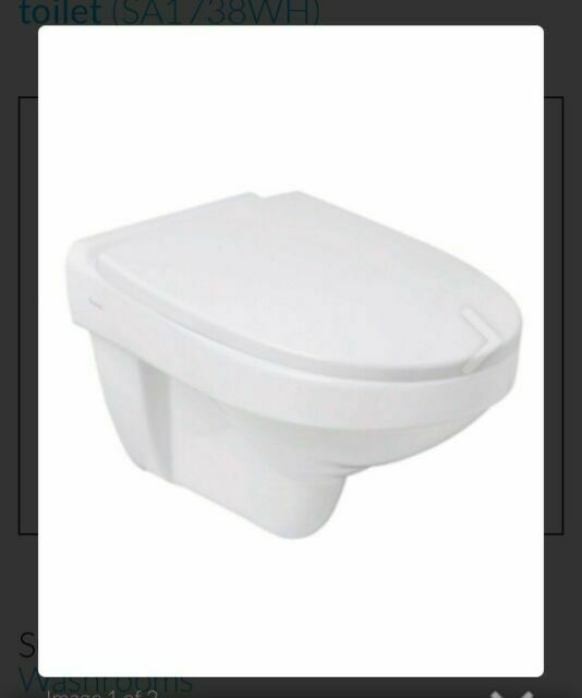BRAND NEW SA1738WH Twyford Sola Wall Hung Rimless Toilet Pan
