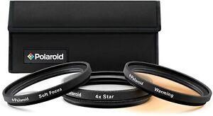 Polaroid Creative Filter Kit, Soft Focus + 4 Point Star + Warming - 67mm, BNIB