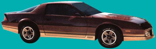 85-86 Camaro Z28 Decal /& Stripe Kit Silver /& Black