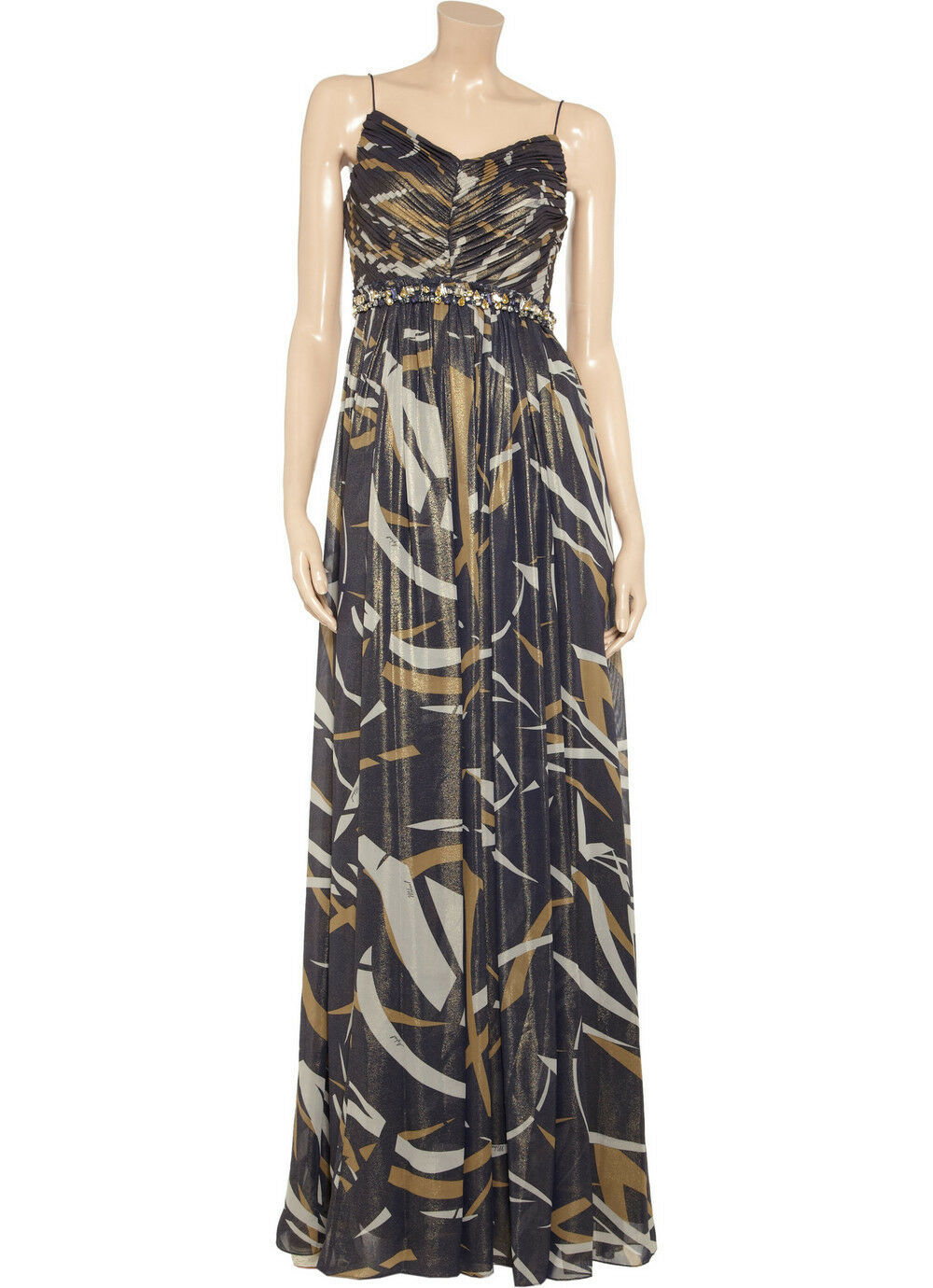 MIKAEL AGHAL WOMEN'S PRINTED GOWN EVENING DRESS SIZE 12 NWT