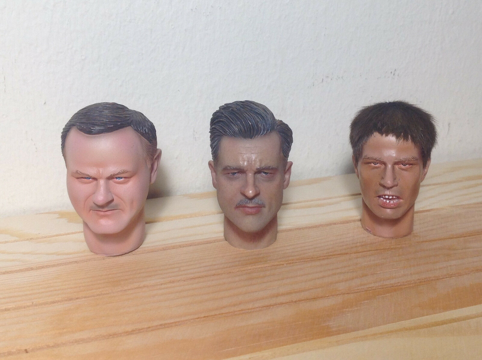 Lot of 3 heads in scale 1:6 for action HEADS ONLY AS PHOTO