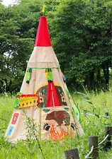 Kids Teepee Indian Play Tent 3 Red Dress Up House Accessories Indoor Outdoor New