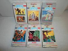 Tested ! Lot 6 VHS The Greatest Adventure Stories From Bible Joseph/Jesus/Moses
