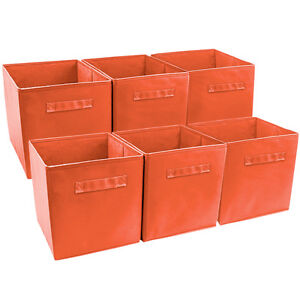 Sorbus-Foldable-Storage-Cube-Basket-Bin-6-Pack-Orange