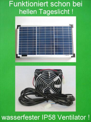 20 Watt wasserfester Solarlüfter IP58 Solar Lüfter Solarventilator Ventilator
