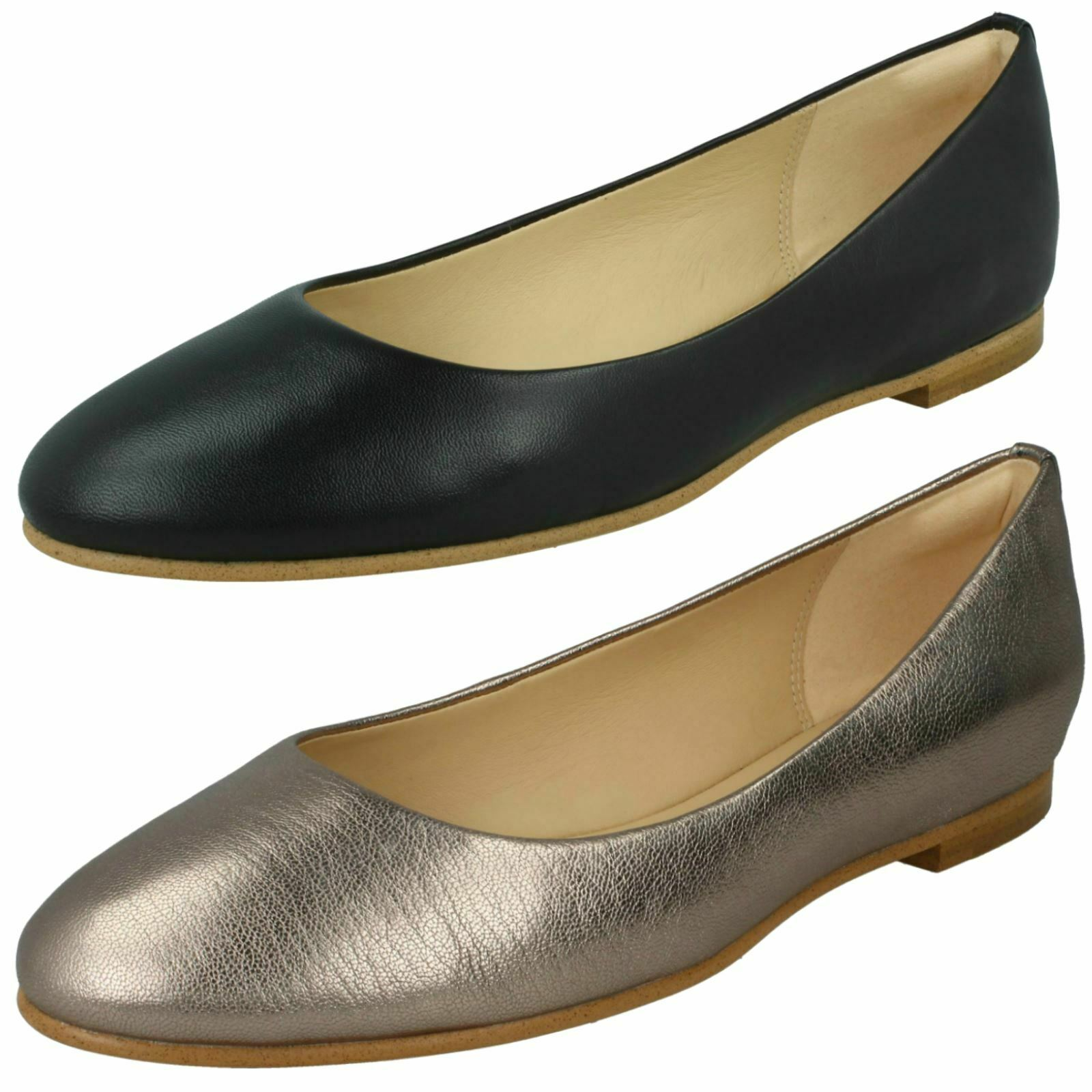 Damen clarks' Grace Piper' Smart Leder Slipper Pumps - D Passform
