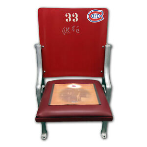 Montreal Canadiens Forum Seat - Signed by Patrick Roy