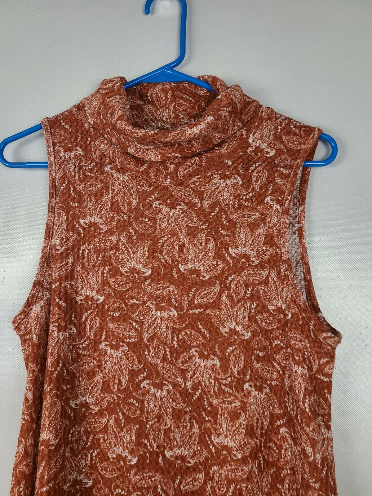 Sweet Claire Womens Top Size Small Brown White Fl… - image 2
