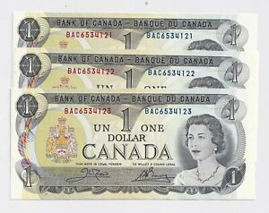 3-x-Sequential-1973-1-Bank-of-Canada-Notes-UNC