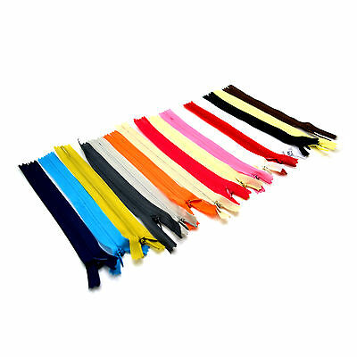 Concealed Invisible Nylon Zips Hidden Closed End Zipper Various Colours /& Sizes