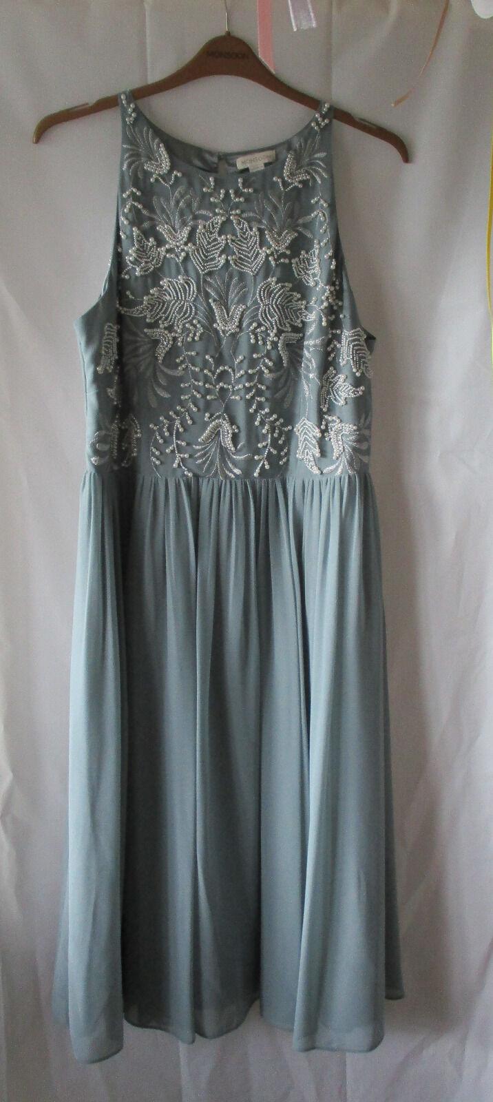 Kleid von Monsoon, Gr. 46, aufwändig gearbeitet