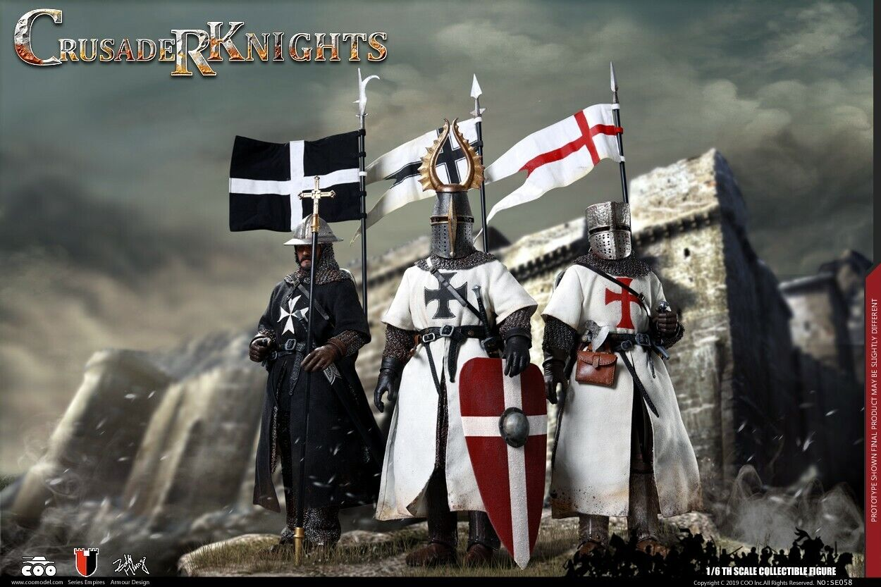 COOMODEL SE058 EMPIRES SERIES 1 6 GLORY OF THE HOLY CITY Knight Set of 3 Figures